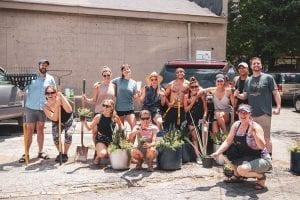 virginia highland district beautification team group photo