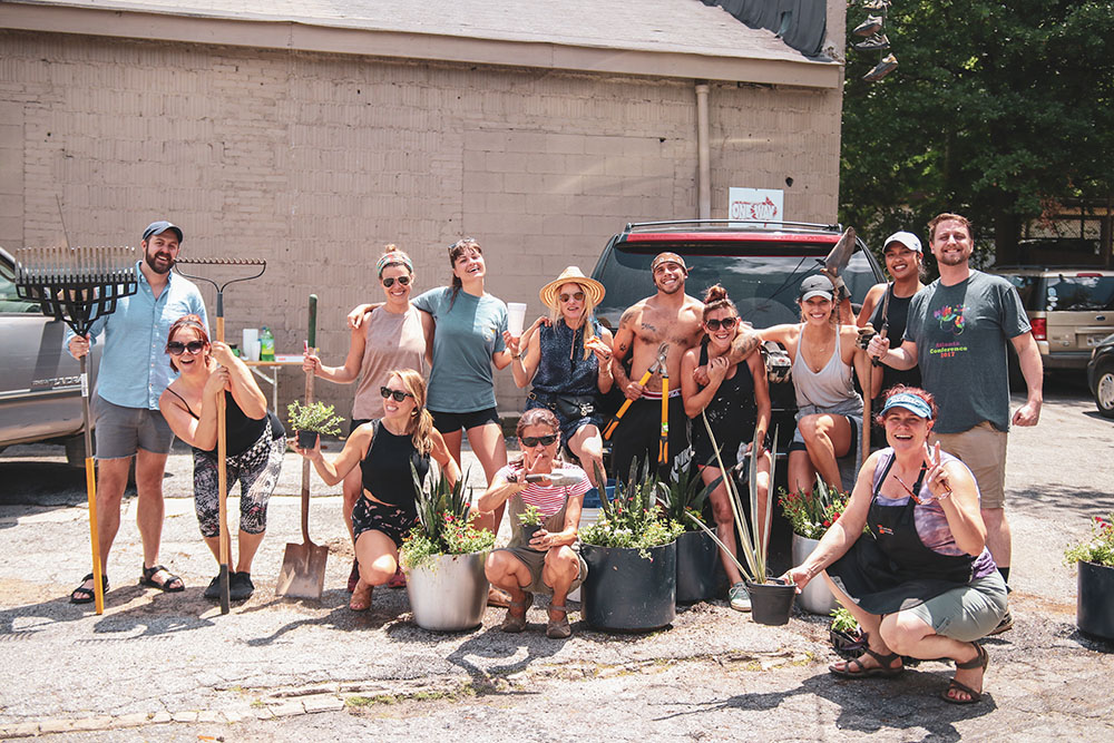 virginia highland district beautification team group photo